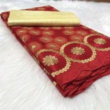 5yards/ensemble africain Bazin Riche Brode tissu avec Polyester suisse dentelle tissu 2020 damassé Shadda guinée brocart dentelle tissu