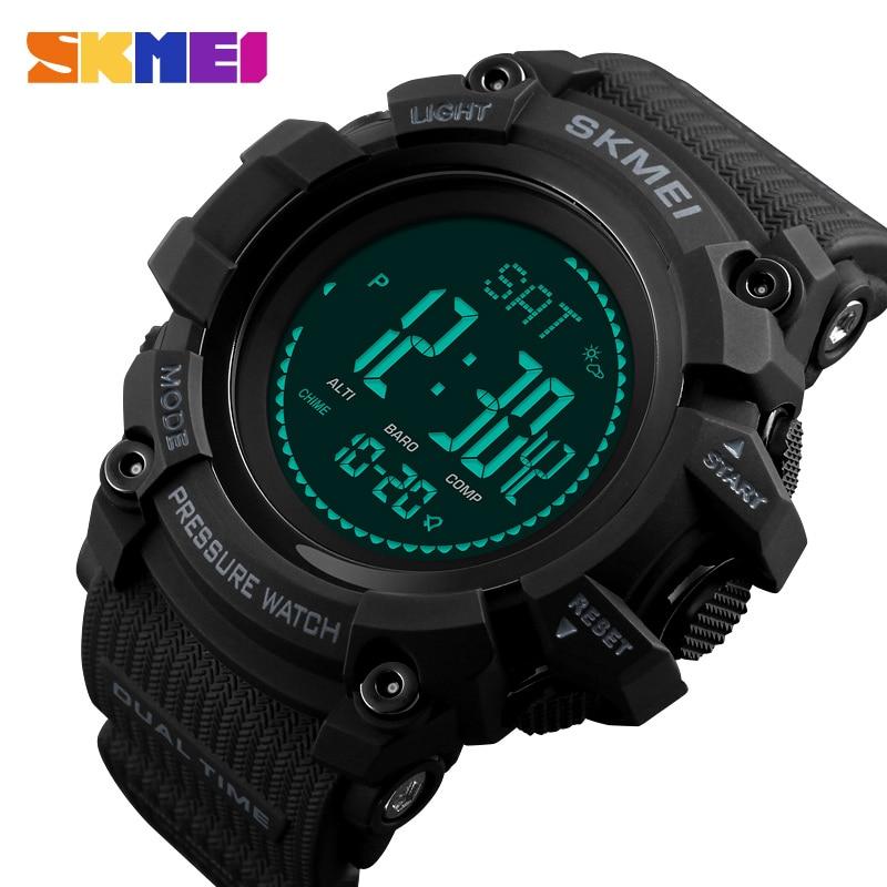 SKMEI-relojes al aire libre para hombre, pulsera Digital deportiva con brújula de...