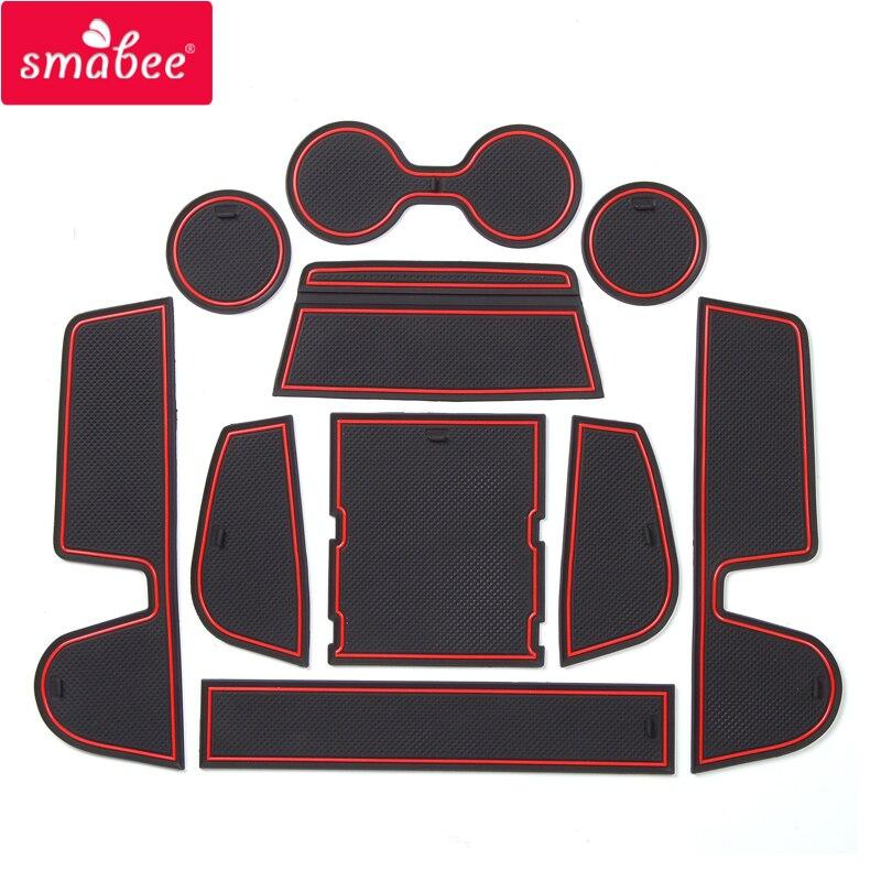 Sambee antideslizante puerta ranura taza Mat para MAZDA CX-30 2019 2020 CX30 CX 30 ranura antideslizante almohadilla coche pegatina posavasos