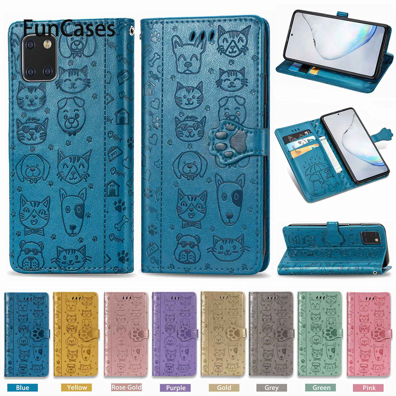 Fundas gatito para armadura Samsung A81, estuches bonitos Carcasa Samsung etui Note...