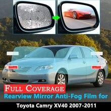 Full Cover Protective Film for Toyota Camry XV40 40 2007 2008 2009 2010 2011 Car Rearview Mirror Rainproof Anti-Fog XV 40