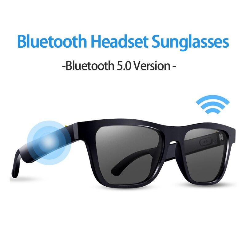 E10 الذكية الصوت النظارات الشمسية سماعة BT5.0 اللاسلكية سماعة الموسيقى UV نظارات واقية الصوت نظارات حر اليدين مع هيئة التصنيع العسكري للرجال