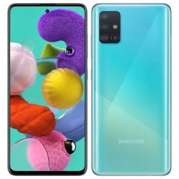 "Смартфон Samsung Galaxy A51 SM-A515F Blue 6.5"" AMOLED Samsung Exynos 9611 4Гб 64Гб 48Mп Android 10 NFC 4000mAh"