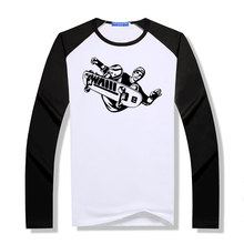 Long Sleeve Modal Sport T Shirt Mens Skateboarder Stunt Trick Flip Jump Skateboarding T-shirts O Neck raglan Tees
