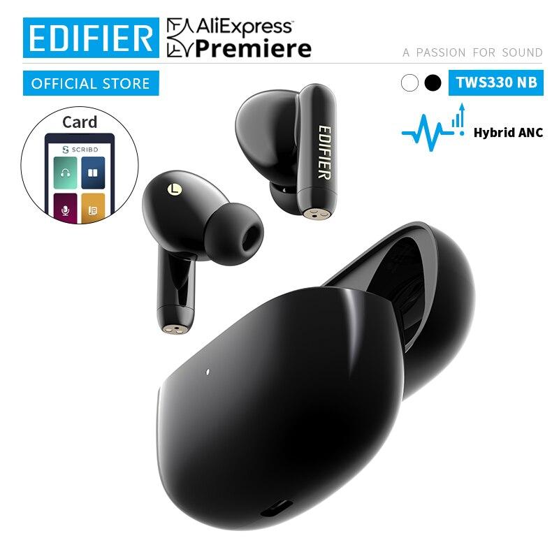 EDIFIER TWS330NB Hybrid ANC TWS Wireless Bluetooth Earphone bluetooth 5.0 AAC HD quick charge AI Phone Call Noise Cancellation