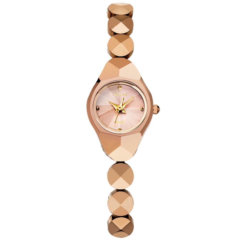 DOM women luxury brand waterproof style quartz watch Tungsten steel gold nurse watch bracelet women enlarge