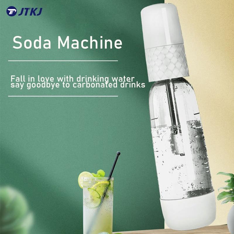 JTKJ 1000 مللي آلة مياه الصودا المحمولة لتقوم بها بنفسك آلة توزيع المياه الغازية مشروب كربوني آلة مشروب بارد الأعمال المنزلية Agua Con Gas