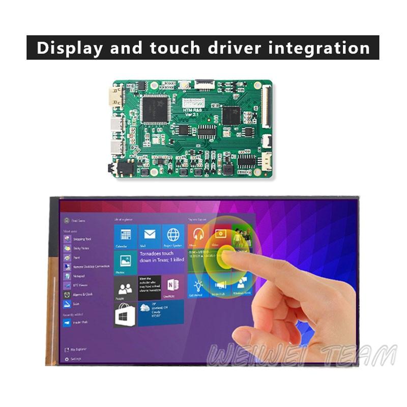وحدة شاشة لمس LCD مقاس 7 بوصات 1920 × 1080 ، لوحة تشغيل MIPI لـ Raspberry Pi 4 Pi3 Nvi Dia jeston Nano PC TV Box ، صندوق ألعاب