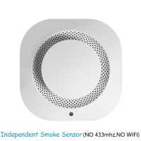 Smoke Detector Home Security Smart Independent Smoke Fire Detector ASK Alarm Sensor Low Battery Reminder Protect