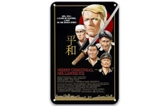 merry christmas mr lawrence 1983 metal tin signs movies iron wall decoration for bathroom decor 8x12 inches