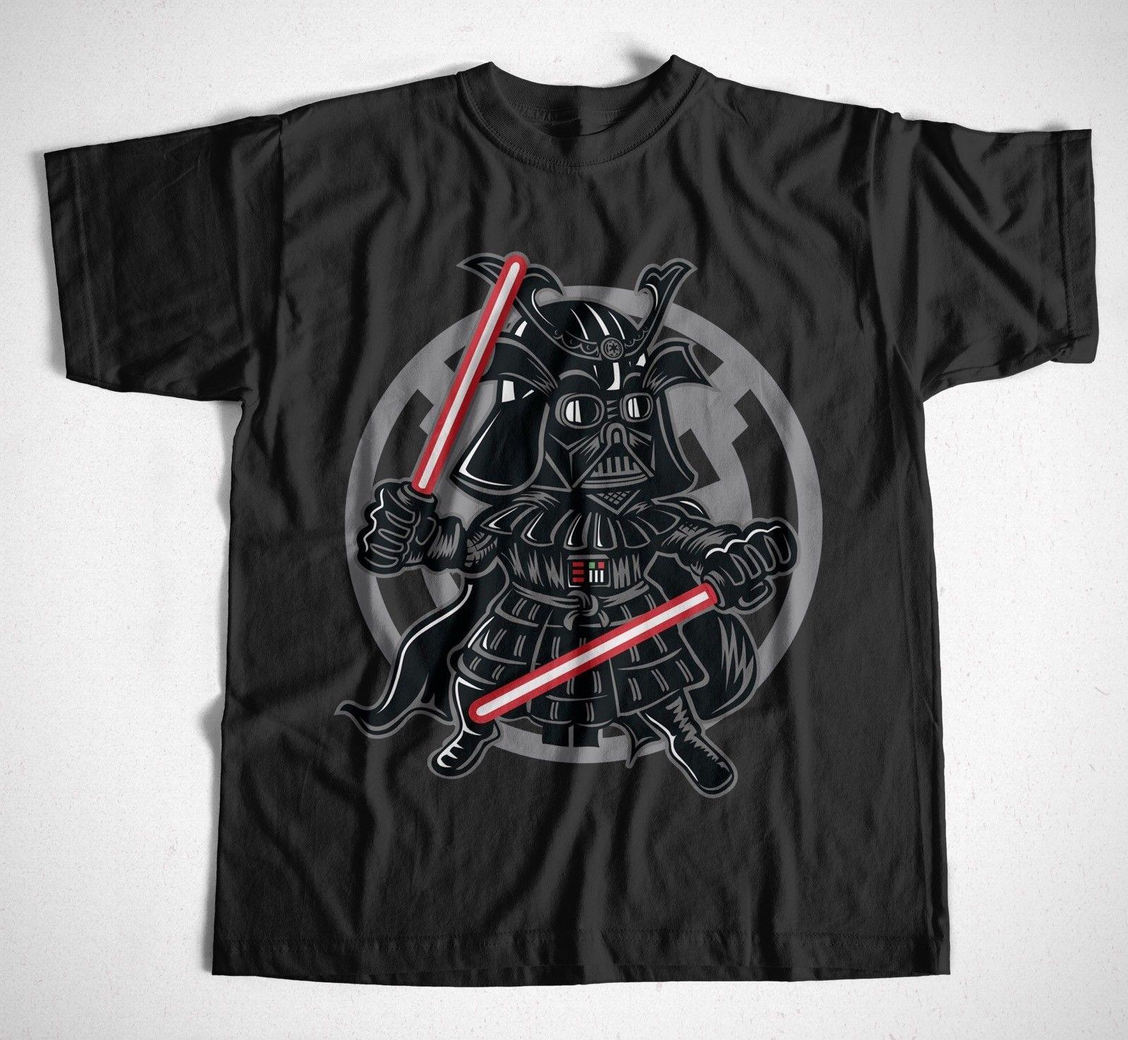 Camiseta Darkside Samurai S-XXXL Darth Vader Star Wars Krieg der Stern Sith Yoda camiseta hombre Camiseta de manga corta