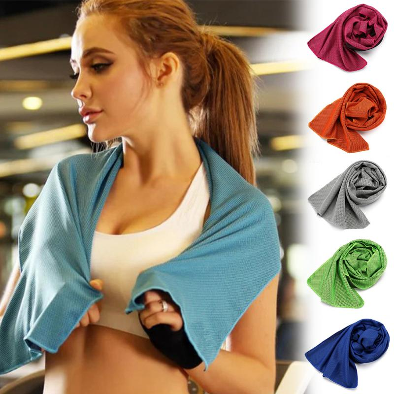 Sports Instant Cooling Towel Ice Cold Enduring Running Jogging Gym Sports Chilly Pad Exercise Fitness Cycling Swimming Towels multicolor sports face towel cooling ice utility enduring instant cozy ice cold for enduring running jogging gym