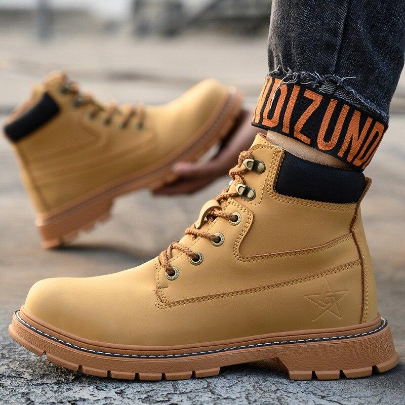 Masculinas de Alta Qualidade na Moda Sapatos de Trabalho com Ferramentas Botas de Estilo Zeekson Martin Botas Curtas Masculinas Tendência Britânico Sapatos Masculinos 2021