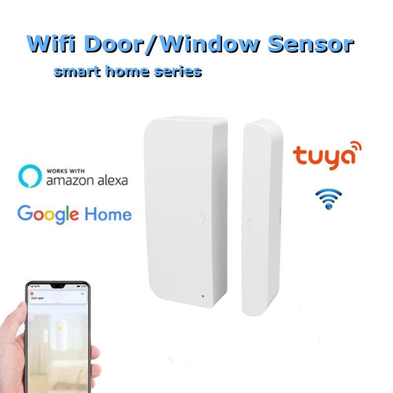 Смарт-датчик двери Tuya Alexa, датчик обнаружения присутствия, Wi-Fi датчик для дверей и окон, магнитный детектор, детекторы открытия/закрытия двер...