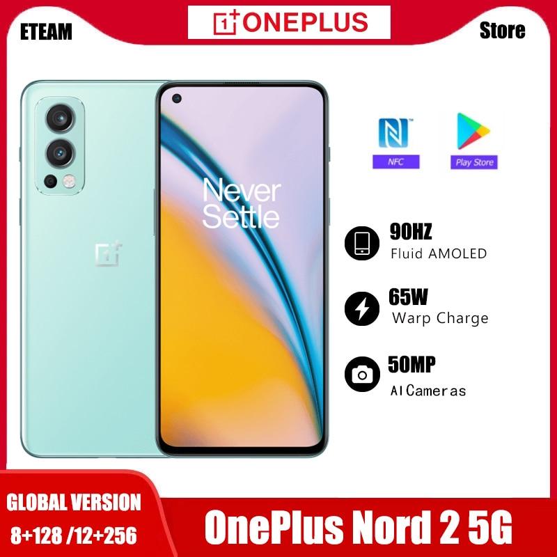 Перейти на Алиэкспресс и купить Смартфон глобальная версия OnePlus Nord 2, регулировка яркости, 128-AI, 8 ГБ, ГБ, камера 50 МП с ии, деформация заряда, 65 дюймов, 90 Гц, жидкий AMOLED дисплей