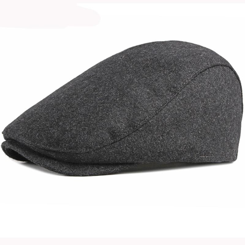 Берет HT2930 сезон осень зима шерстяная шапка однотонная художника винтажный