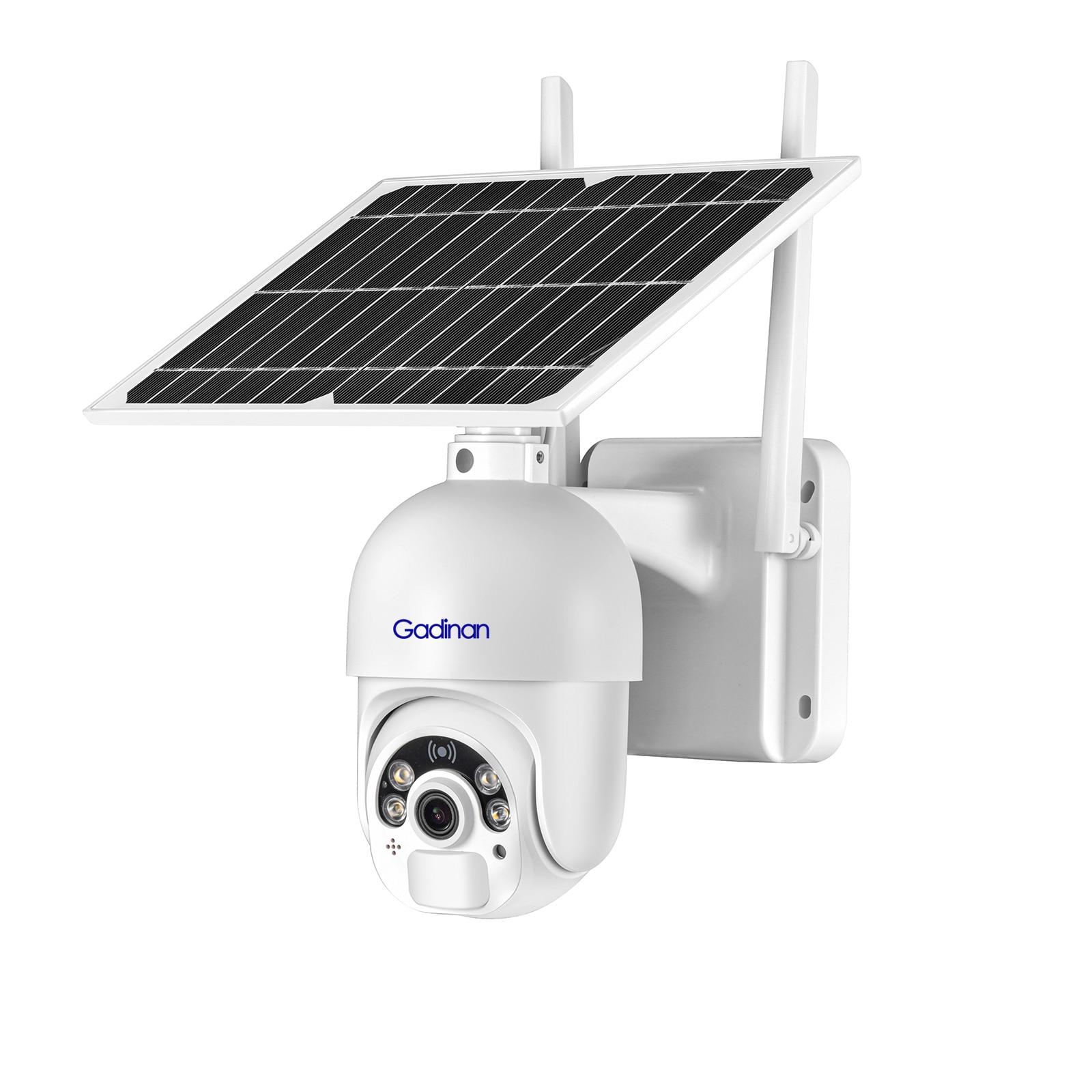 PTZ Camera 4G SIM Card /WIFI 1080P HD Solar Panel Outdoor Monitoring CCTV Camera Smart Home Two-way Intrusion Alarm Long Standby