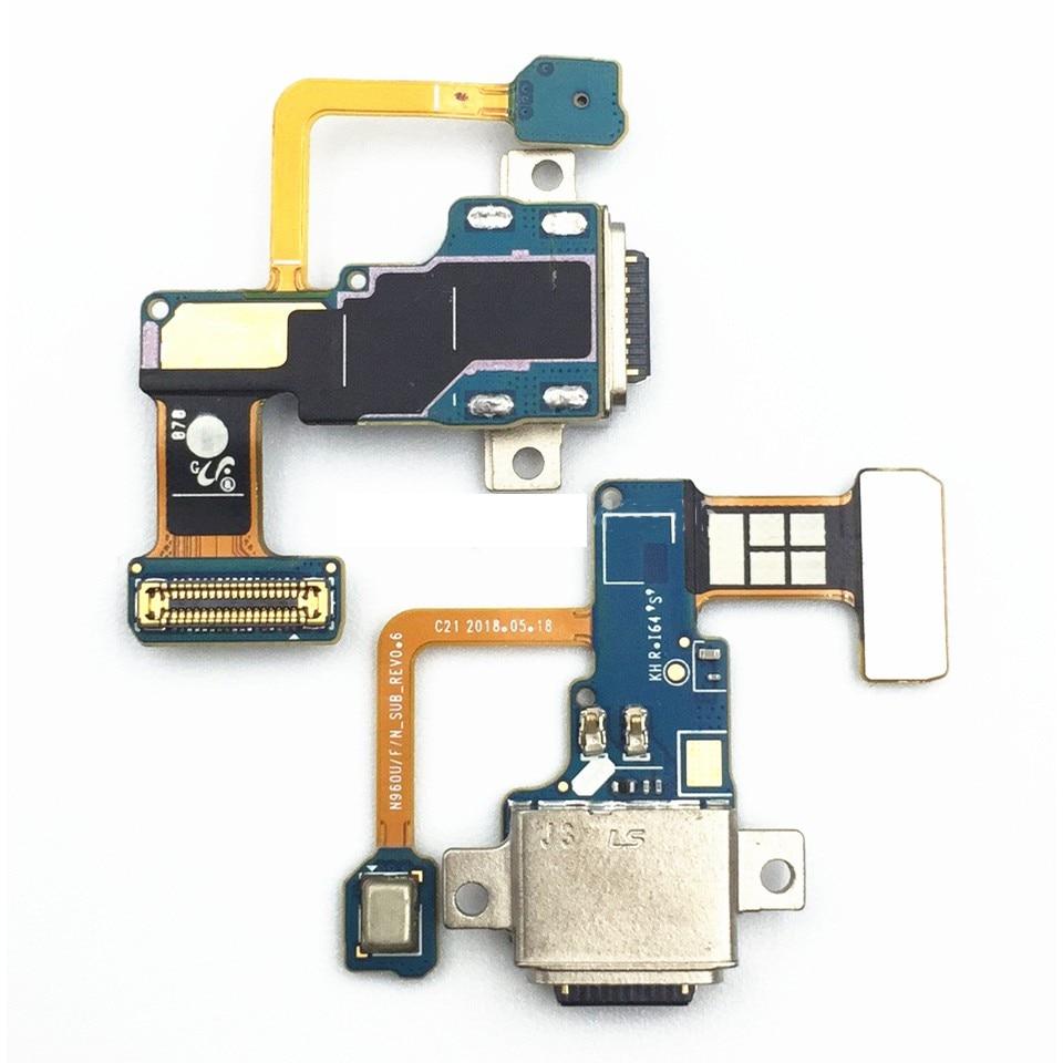 De carga Micro USB Puerto del cargador del muelle conector Mini Cable de la flexión para Samsung Galaxy Nota 9 N960F Note9 N960U N9600