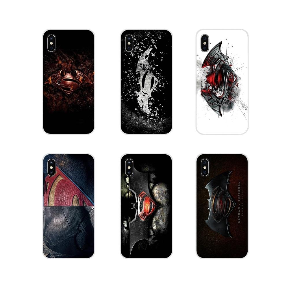 Para iPhone X de Apple XR XS 11Pro MAX 4S 5S 5C SE 6 6S 7 7 Plus ipod touch 5 6 caso de moda Cartel de la película de Batman vs Superman logo 2016