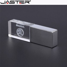 JASTER skoda kristal + recuperación USB flash drive 1 GB 2GB 4GB 8GB 16GB 32GB 64GB 128GB u disco stick de memoria
