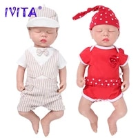 ivita wg1507 46cm 3 2kg eyes closed high quality full body silicone reborn baby dolls realistic toys for children christmas gift