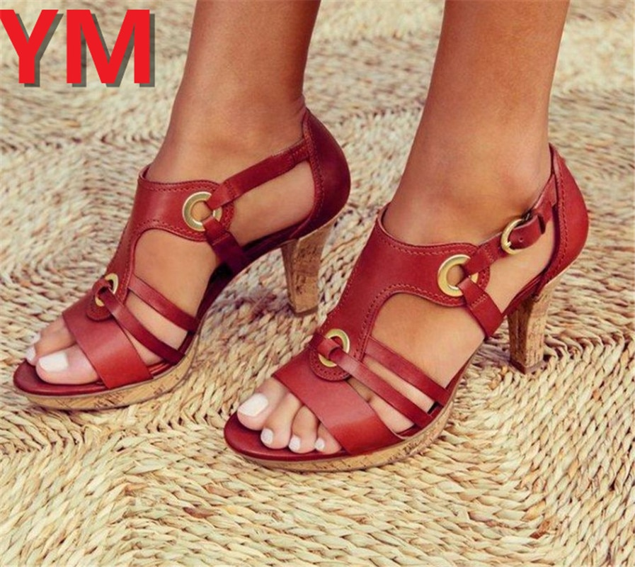 2020 Sexy Hollow High Heels Sandals Women Pumps Heels Ladies Shoes Classic Pumps Plus Size34-43 Shoes Women Buckle Strap Sandals