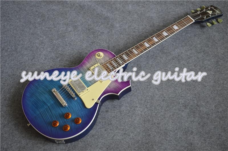China Suneye Guitarra eléctrica estándar cromo Hardware Guitarra incrustaciones de perlas Guitarra...