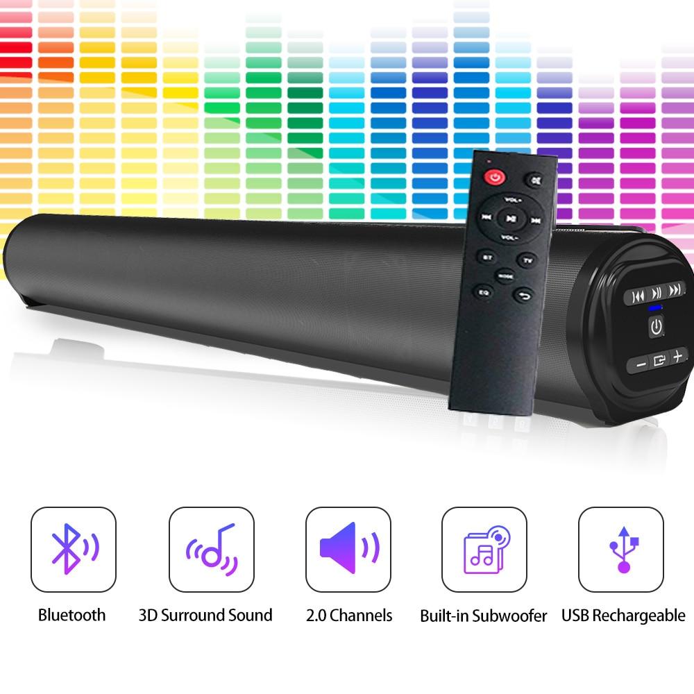 Wireless Home Theater Subwoofer Sound Bar, Bluetooth Speaker System, Super Sound, Wired, Surround Sound, TV Projector enlarge