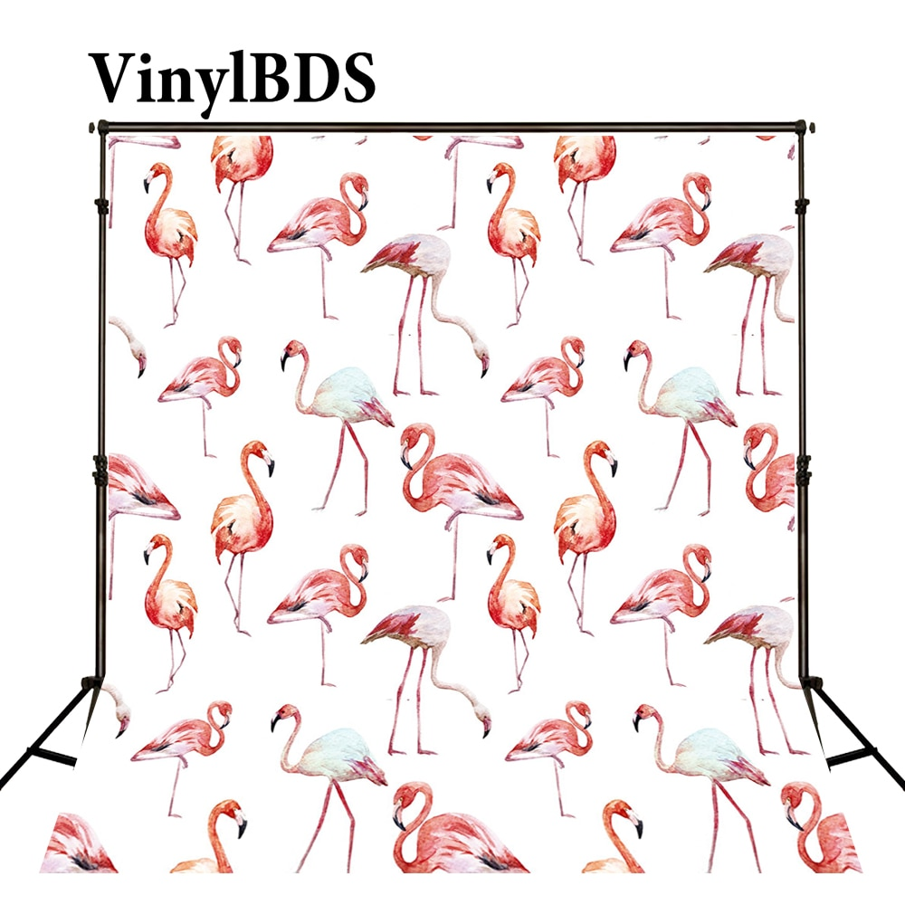 Vinilbds 8x8ft recién nacido telón de fondo animales telón de fondo Natural boda flamencos pintura Digital fondo para estudio de fotografía