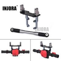Подставка для сервопривода INJORA металлическая ось с рулевым звеном для 1/10 RC Гусеничный осевой SCX10 II 90046 AR44 ось