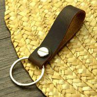 Кожаный ремешок из воловьей кожи с подвеской, практичная простая веревка для Мобильный телефон аксессуаров, автомобильные аксессуары, брел...