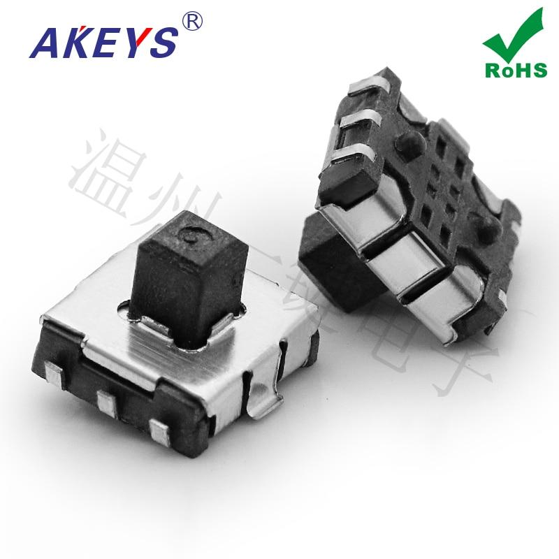 Parche de TMHU12-BB-R de una sola tecla 10 Uds 7,0*7,0mm interruptor multifuncional de cinco direcciones micro-movimiento táctil