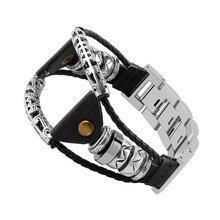 Bandes de cuir bracelets de Bracelet faits à la main pour Samsung Galaxy Watch (46mm) accessoires de Bracelet intelligent livraison directe