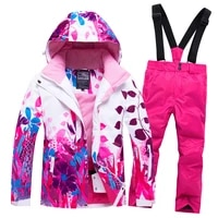 2019 hot sale brand boysgirls ski suit waterproof pantsjacket set winter sports thickened clothes childrens ski suits 30