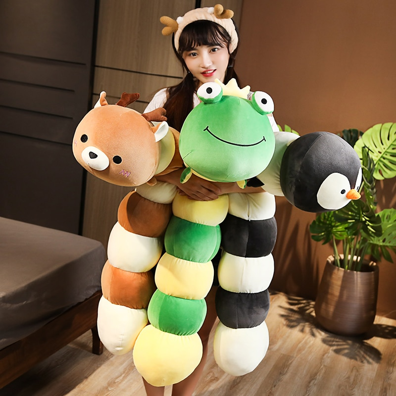 free shipping lovely milk cow plush pillow toys soft stuffed cartoon animal cattle doll bedroom sleeping pillow cushion Free Shipping Funny Frog Penguin Bear Plush Long Pillow Toys Soft Stuffed Cartoon Animal Deer Doll Sofa Bed Sleeping Cushion