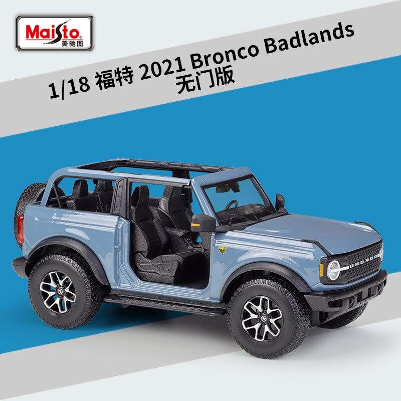 Maisto 1: 18 Ford 2021 Bronco Badlands