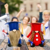 2021 graduation dolls dwarf for rudolph faceless doll high quality handmade graduation gift party decoration for boys and girls