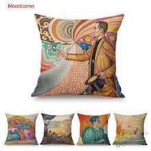 Paul Signac coloré vue panoramique peinture à lhuile pointillisme Art mur taie doreiller décorative moderne néo-impressionnisme housse de coussin
