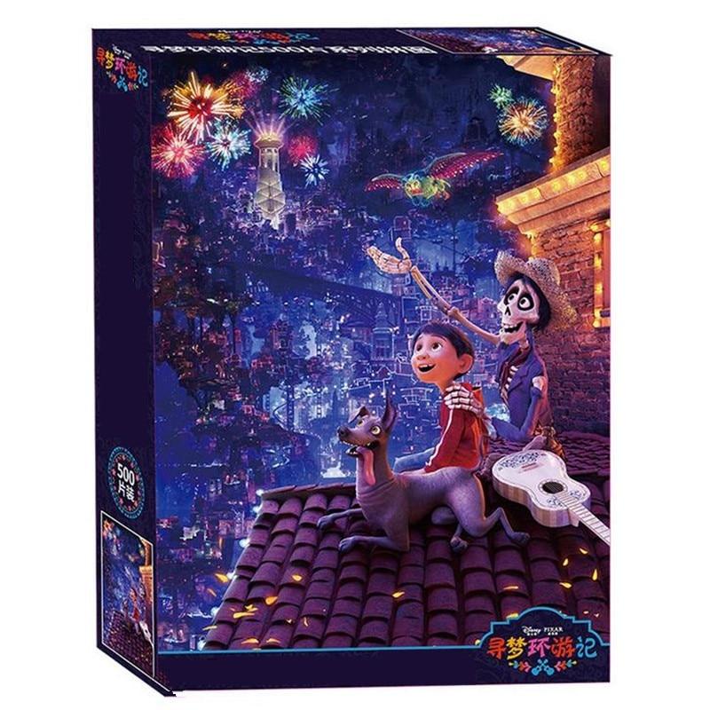 Quebra-cabeça de brinquedo 500 peças de papel, quebra-cabeça de brinquedo romântico para adultos, adolescentes