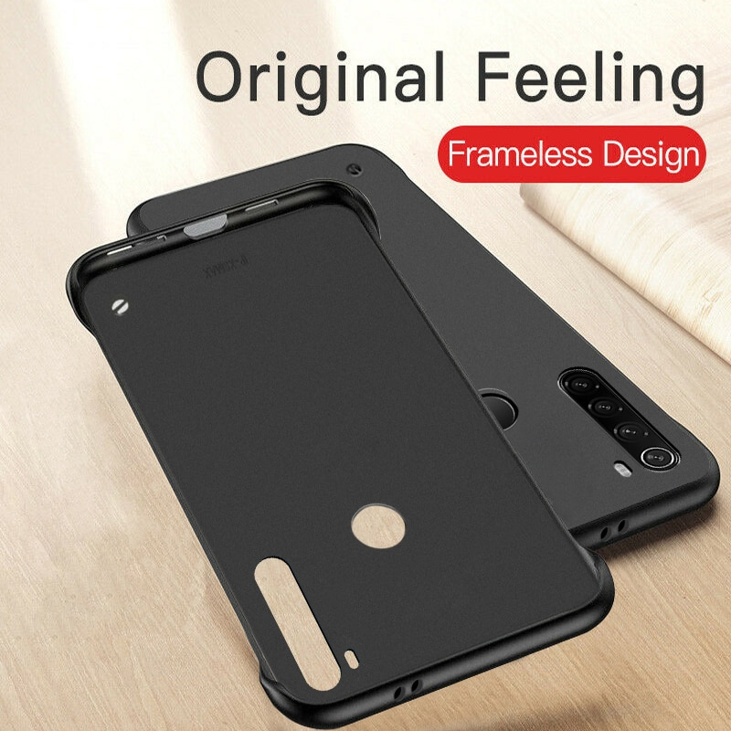 Frameless Case For Xiaomi Mi 9 SE 9T Pro A3 Lite CC9 CC9E Slim Hard PC Shockproof Cover Cases For Xiaomi Redmi Note 8 Pro 7 K20