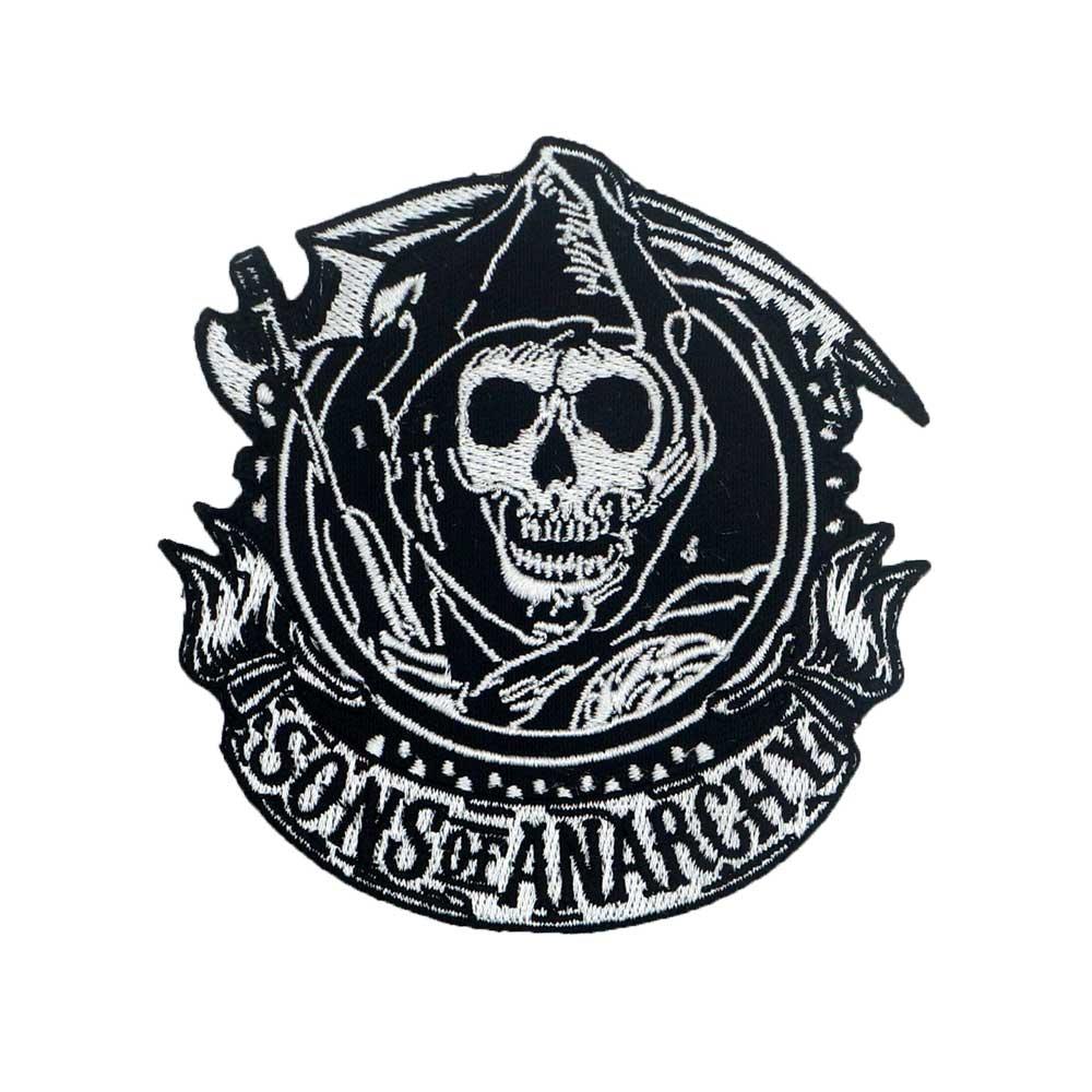 SOA-parches bordados de SON OF ANARCHY RIDER, parches de motociclista punk