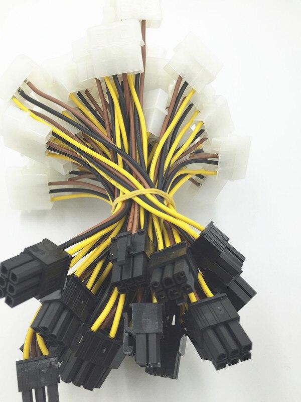 LCA34 1pc 4 Pin IDE Molex 15 Pin 2 serial SATA Disco...