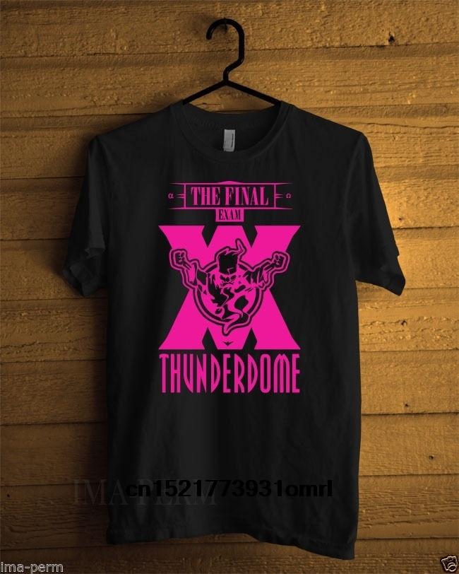 Camiseta para hombre, trueno DOME-el examen Final negro para hombre, talla S-3XL, divertida camiseta, camiseta de novedad para mujer