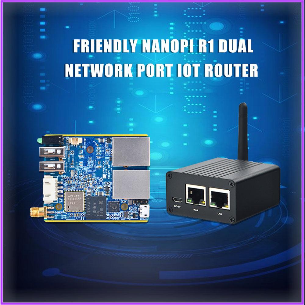NanoPi R1 Allwinner H3 Gbps إيثرنت على متن واي فاي بلوتوث OpenWRT