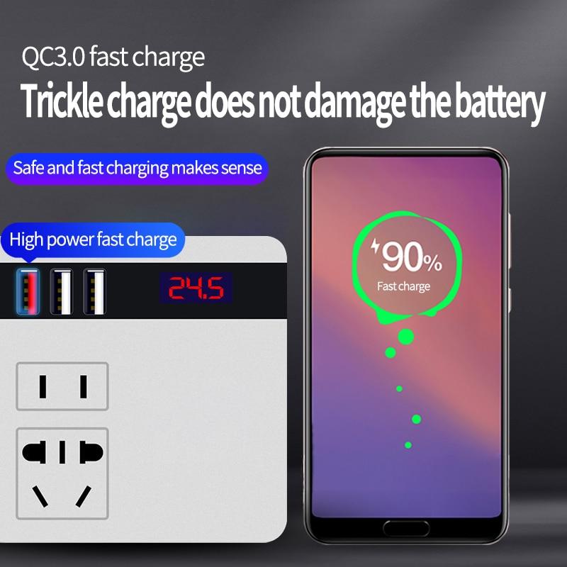 OBDIICAT B12 12V/24V DC To 220V Inverter AC Cigarette Lighter Power Supply Adapter with QC 3.0 USB Charger Fast Charging enlarge