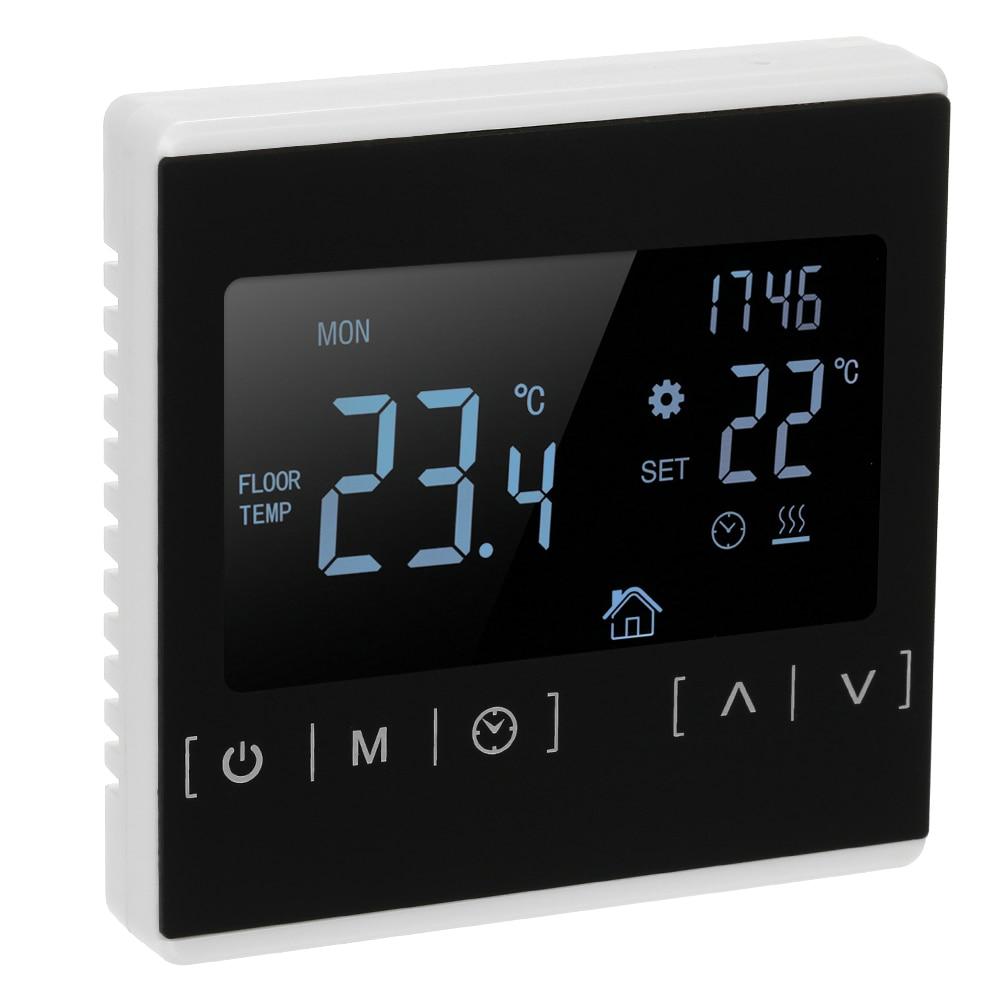 Novo 85 240v wifi controlador de temperatura termostato da sala para o sistema aquecimento elétrico ou água programável termorregulador