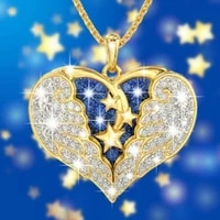 angel inlaid hao stone pendant womans necklace exquisite fashion glamour party wedding jewelry accessories