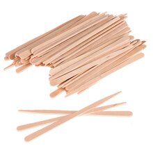 100PCS Woman Wooden Body Hair Removal Sticks Wax Waxing Disposable Sticks Beauty Toiletry Kits Wood