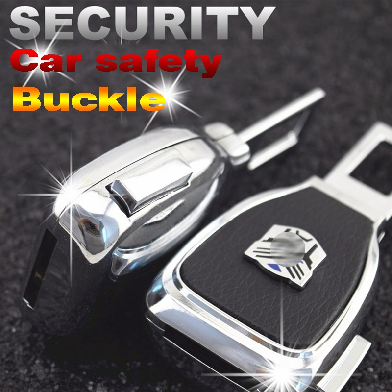 Car Safety Belt EXtender Clip Car Seat Belt Plug Buckle High Quality Stainsteel With Car LOGO For Auto Seat belt Safety Extender