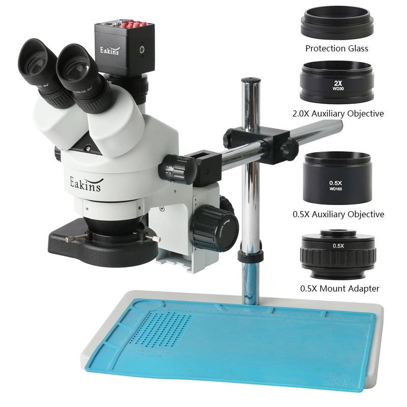 المهنية سيمول البؤري 3.5X-90X ثلاثي العينيات مجهر ستيريو 13MP سوني IMX307 HDMI VGA كاميرا لحام PCB